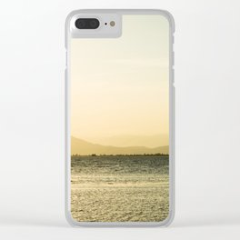 Late kitesurfing Clear iPhone Case