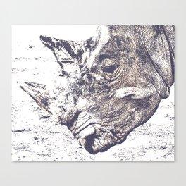 Rhino Rhinoceros Canvas Print