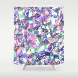 Lazer Diamond Shower Curtain