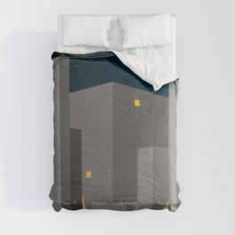 BUILDINGS_01-NIGHT HAWKS Comforters