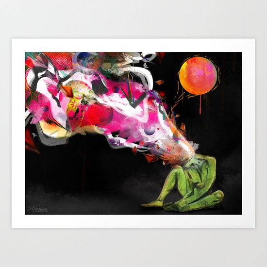 Meaningful moments exist silently Art Print