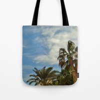 palms Tote Bags featuring Palms by Magic Emilia