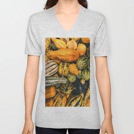 Autumn Farm Feast (Color) Unisex V-Neck