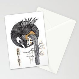 BIRD WOMEN 4 Stationery Cards