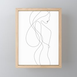 Lady with Long Hair Framed Mini Art Print