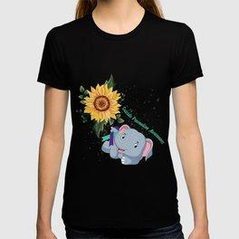 Elephant Faith Hope Fight Love Suicide Prevention Awareness T-Shirt T-shirt