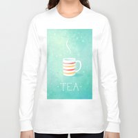 tea Long Sleeve T-shirts featuring Tea by Freeminds