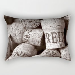 Cork of Champagne - Brown Duplex Rectangular Pillow