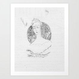 bramble branch portrait Art Print