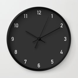 Numbers Clock - Charcoal Wall Clock