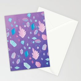 Colorful Crystal Confetti Stationery Cards