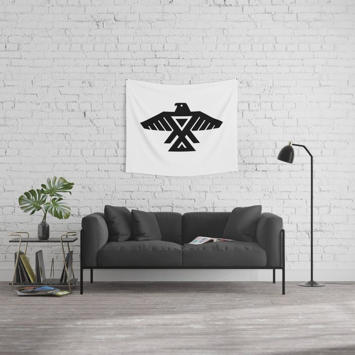 Native American Thunderbird Symbol Flag Wall Tapestry By