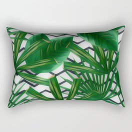 Tropical Greens Rectangular Pillow