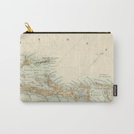 Vintage Map of Bermuda (1872) Carry-All Pouch
