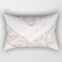 Shimmering mirage - pink marble chevron Rectangular Pillow