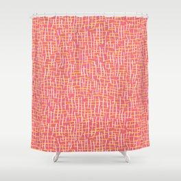 Pink Woven Burlap Texture Seamless Vector Pattern Shower Curtain