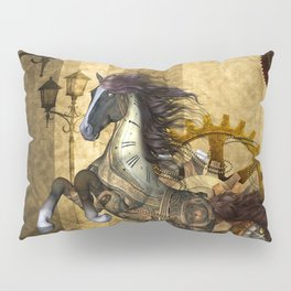 Awesome steampunk horse Pillow Sham