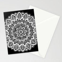 Black and White Boho Mandala Stationery Cards