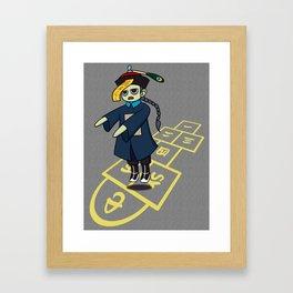 Hopscotch Hopping Corpse Framed Art Print