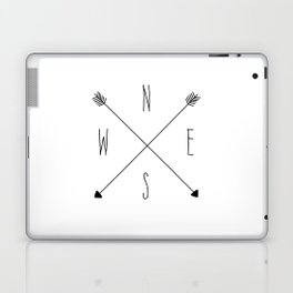 Compass - North South East West - White Laptop & iPad Skin
