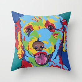 Millie the Curly Dog Throw Pillow