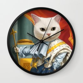 Cat King Wall Clock