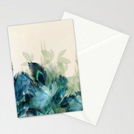 Misty Blue Peacock Stationery Cards