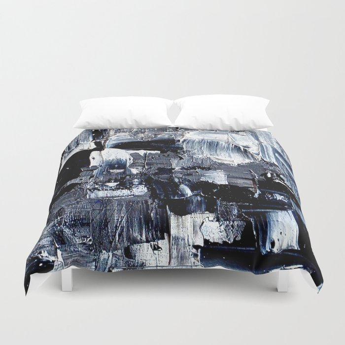 50 Shades... - black & white abstract painting Duvet Cover