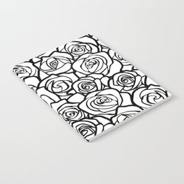Vintage black and white roses Notebook