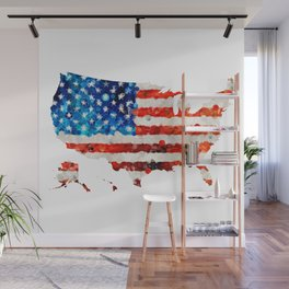 Map of The United States Of America 23 - Sharon Cummings Wall Mural