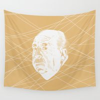 hitchcock Wall Tapestries featuring Hitchcock Web by FSDisseny