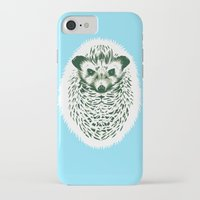 hedgehog iPhone & iPod Cases featuring hedgehog by barmalisiRTB