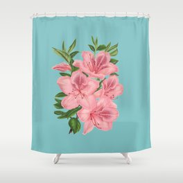 Vintage Flowers - Tiger Lilies Shower Curtain