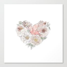 bird of paradise , paradisebirds , simple floral graphic design , gift for gardener Canvas Print