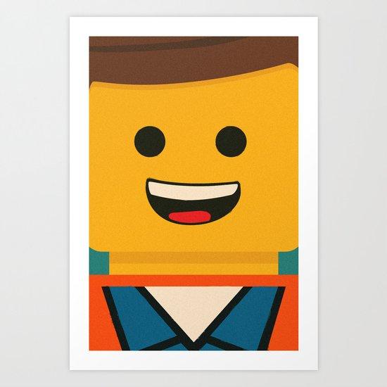 Lego Emmet Art Print By Shujaat Syed Society6