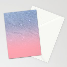Modern blush coral pink pastel blue elegant faux glitter Stationery Cards
