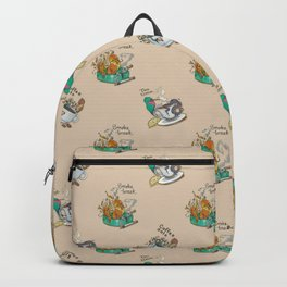 Occult Birdies Fabric Print Backpack