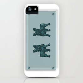 Patches French Bulldog Twins iPhone Case