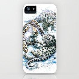 Little snow leopards iPhone Case