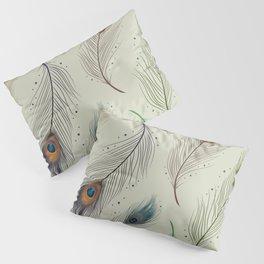 Peacock feather design Pillow Sham