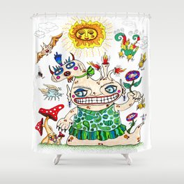 She-Beast and Friends Shower Curtain