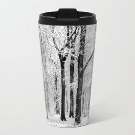Snowy Beech Trees Travel Mug