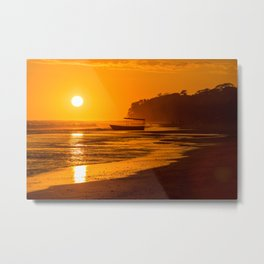 Fishing boat at sunset in Costa Rica Metal Print