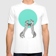 Territory White MEDIUM Mens Fitted Tee