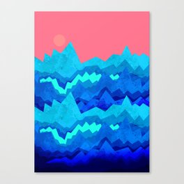 A rough summer's sea Canvas Print