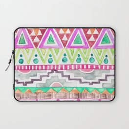 Watercolor Aztec Pattern Pink Laptop Sleeve