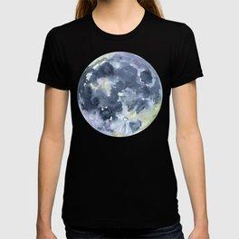 Full Moon Watercolor T-shirt