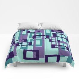 Geometric rectangles pattern violet Comforters