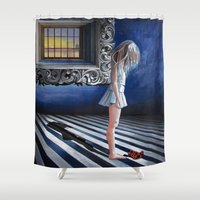"""kafka Shower Curtains featuring """"K"""" il sole anche di notte / """"K"""" the sun even at night by GaeTano & Valentina"""
