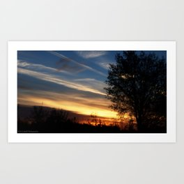A Painted Sunrise Art Print